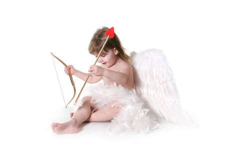 Child Valentine Cupid Isolated on White Stock Photo - 309091