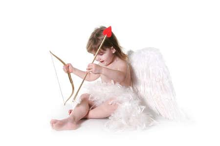 Child Valentine Cupid Isolated on White Stock Photo - 309091