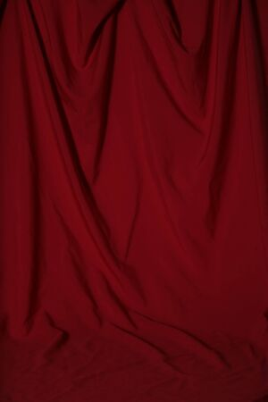 studio: Deep Red Draped Backdrop Background