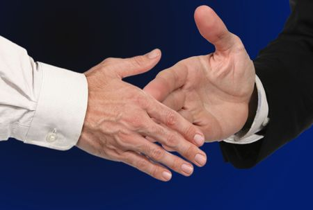 Men Shaking Hands for a Business Deal Stock Photo