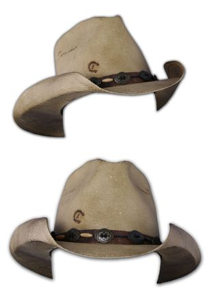 Isolated Cowboy Hats on White