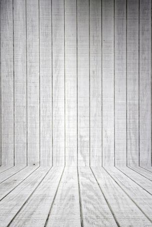 White Wood Planks With Floor Background Stock Photo - 483814
