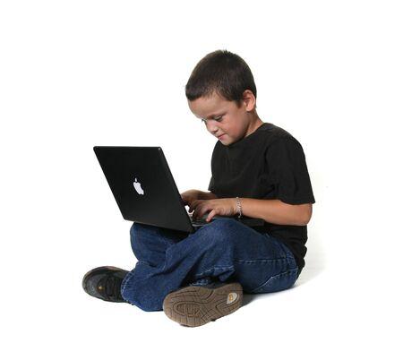 Jongen Met laptop