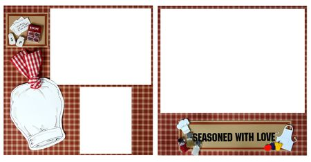 scrapbook homemade: Scrapbook Page Layout Handcrafted From Paper- Insert Your Photos!