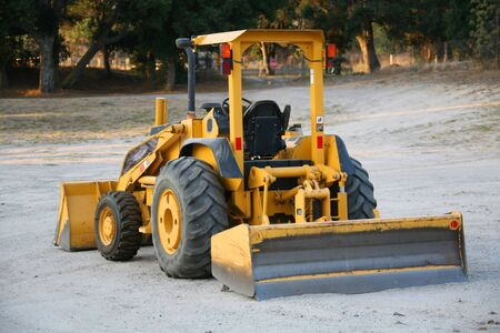grader: Yellow Earthmover Construction Machinery