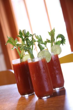 Three Bloody Mary Cocktail Drinks With High Depth of Field Stock Photo - 833173