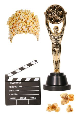 cinematic: Movie Production Props Isolated on White