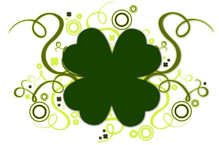 Ornament With Green Clover for St. Patrick's Day Stock Photo - 827010