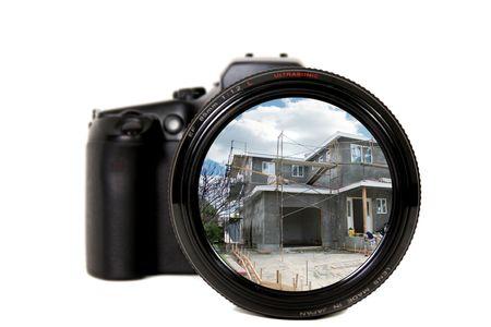 Home Under Construction Through a Camera Lens photo