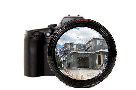 Home Under Construction Through a Camera Lens photo