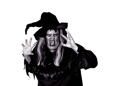 coven: Scarry Woman Witch Making Mean Expression