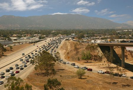 bottleneck: Traffic jam in California Highway System