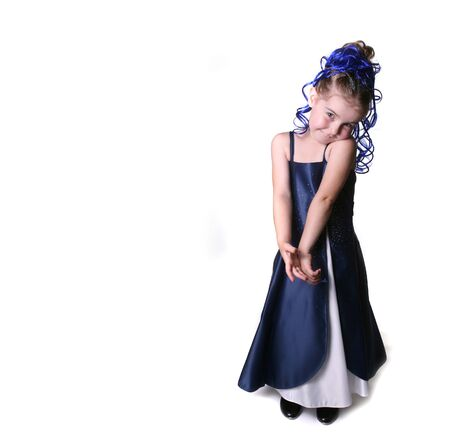 Adorable Young Child in Glamour Play Attire