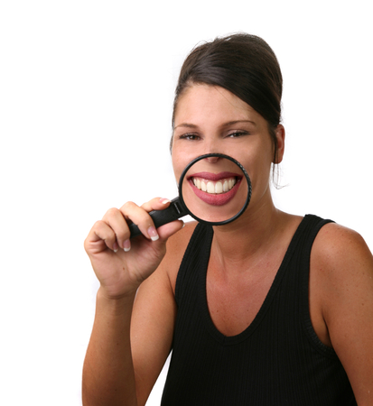 Pretty Girl Smiling With Teeth Showing photo