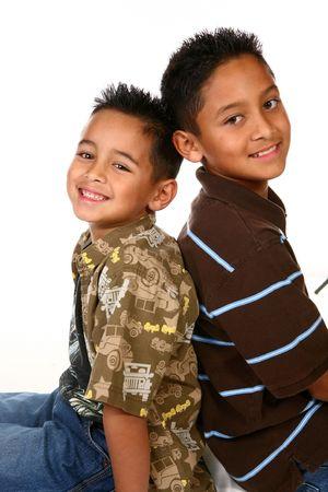 Hispanic Children Back to Back on White
