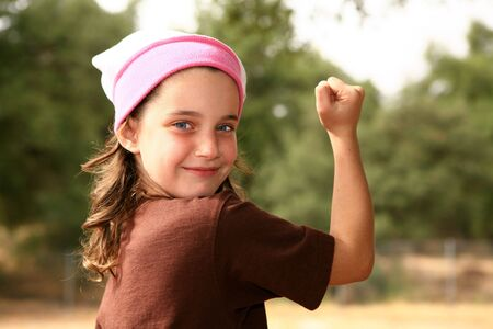 pre adolescent: Happy Young Girl Outdoors
