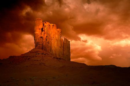Storms in Monument Valley, Navajo Nation, Arizona