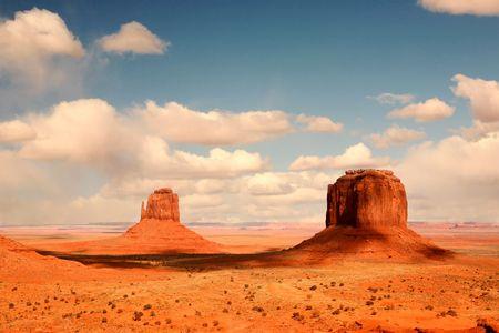 Cloud Shadows in Monument Valley, Navajo Nation, Arizona USA Stock Photo - 2908264