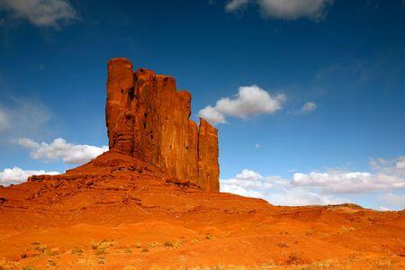 navajo land: Single Monument in Monument Valley, Navajo Nation, Arizona USA  Stock Photo