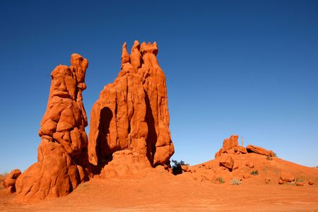 Tall Rock Formations in Monument Valley Arizona photo
