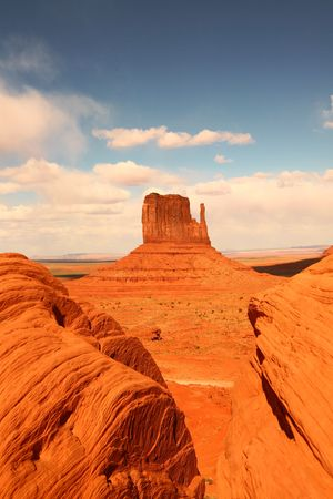 Vertical Image of Monument Valley, Navajo Nation, Arizona USA  photo