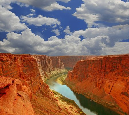canyons: Grand Canyon Mouth in Paige Arizona Stock Photo