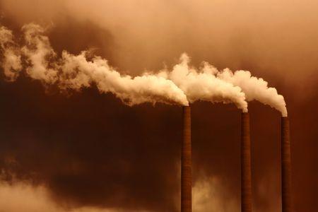 carcinogen: Nocivas inundaciones gases de efecto invernadero de la atm�sfera de una planta de fabricaci�n de contaminantes