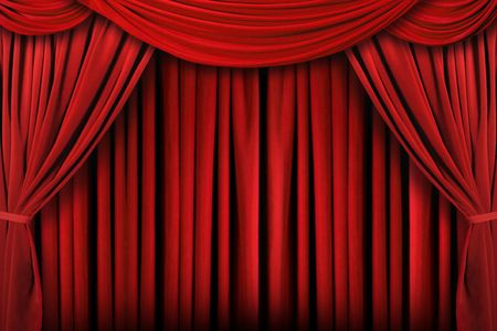 lighting background: Beautiful Indoor Theater Stage Background With Dramatic Lighting Stock Photo