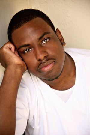 アフリカ系アメリカ人男性の肖像画 写真素材 - 3335292