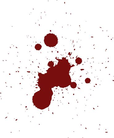 paint drop: Red Blood Spatter Pattern in Vector Format