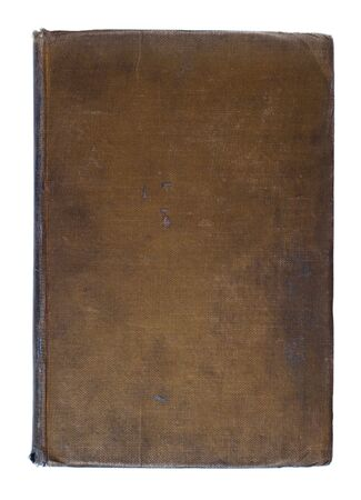 Brown Dirty Worn Linen Book Cover From the 1920s Background Stock Photo - 3505024