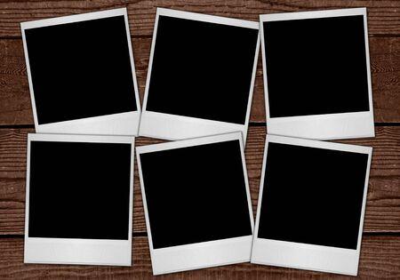 blanks: Multiple  Film Blanks Sitting on Wood Background
