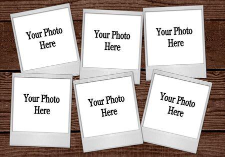 Multiple Film Blanks Sitting on Wood Background Stock Photo - 3544364