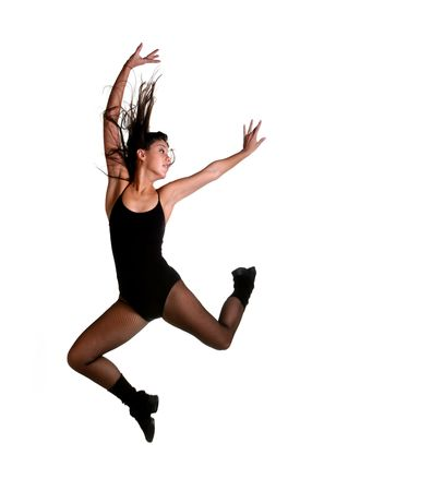 Dancer Leaping Mid Air: Intentional Motion Blur on Extremities