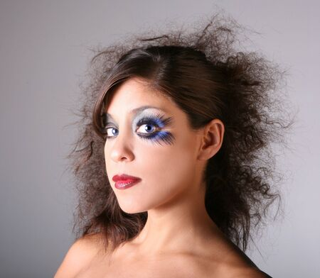 Artistic Glamour Stage Makeup on a Blue Eyed Model Stock Photo - 3574902