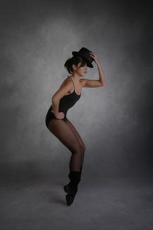 Modern Jazz Dancer Posing With Dramatic Mood Lighting Stock Photo