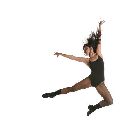 intentional: Modern Jazz Street Dancer Jumping With Intentional Motion Blur