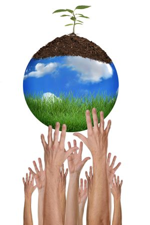 A Green Planet Earth Environment is Within Our Reach Stock Photo - 3647015