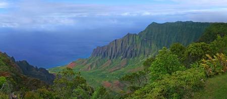 Aerial View of Kauai Hawaii Coastline With Bright Colors Stock Photo - 3947711