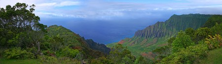 Panoramic View of Kauai Coastline in Hawaii Stock Photo - 3947398