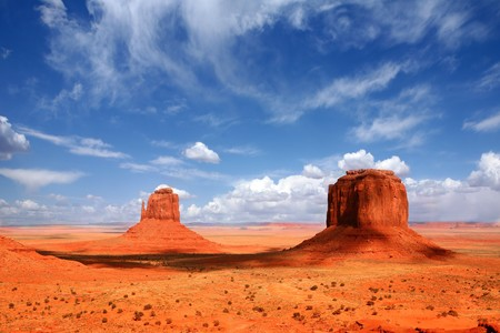 Monument Valley Buttes With Cloud Cast Shade Dancing Along the Valley