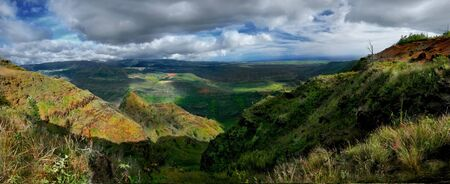 Wiamea Canyon Landscape Panorama in Kauai Hawaii Stock Photo - 3947680