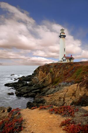Lighthouse Along the Coast of California photo