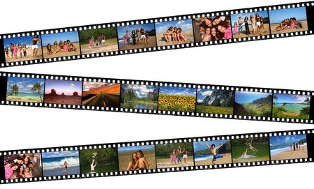 Story of a Family Vacation Told Through Their 35mm Film Negatives Stock Photo - 4084953
