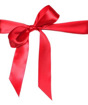 Empate de Cinta Roja de vacaciones aniversario arco en el fondo blanco Foto de archivo - 4090484