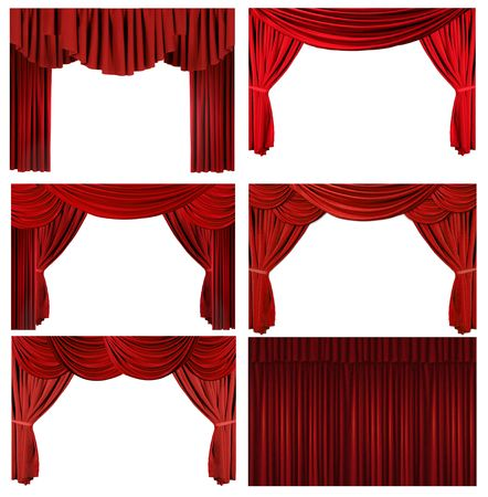 Theater Stage Drape Curtain Elements to Easily Extract and Design Your Own Background Stock Photo - 4328820