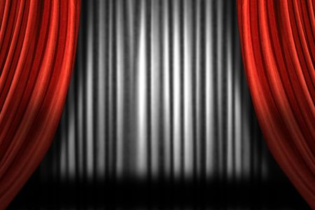 Horizontal Stage Drapes With Dramatic Lighting Stock Photo - 4328801