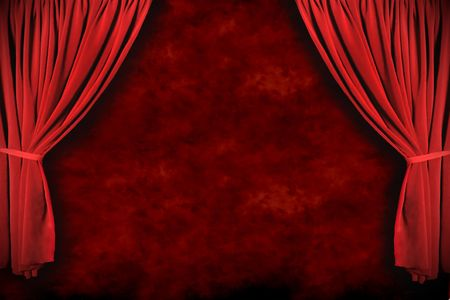 Stage Theater Drapes With Dramatic Lighting With Grunge Background Stock Photo