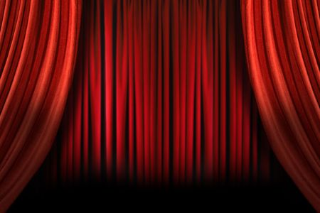 Old fashioned, elegant theater stage with swag velvet curtains Stock Photo - 4596177