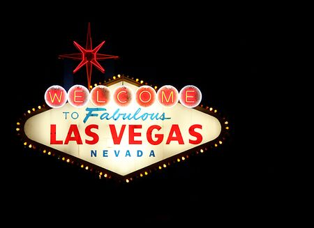 Welcome To Las Vegas Neon Sign at Night Time